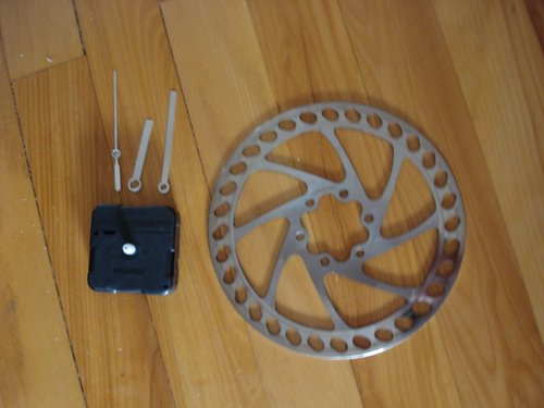 Clock disassembled and rotor