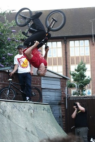Matt Beringer back flip on the small ramps at the dog, after about 6 pints