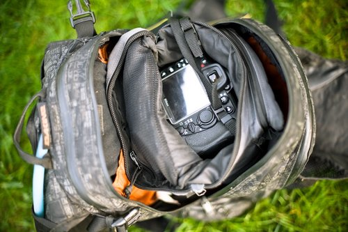Apex with an internal padded f.64 camera holster bag