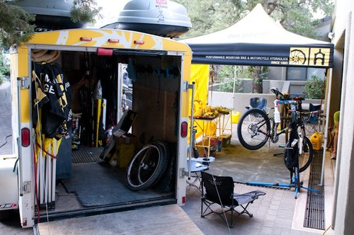 Rear view of the Magura support rig