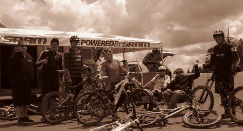 SRAM Crew enjoying their weekend in Ashland.
