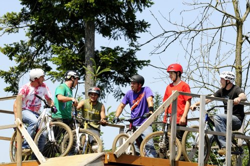 brodeo at the start ramp