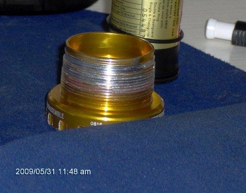 stripped bottom bracket threads