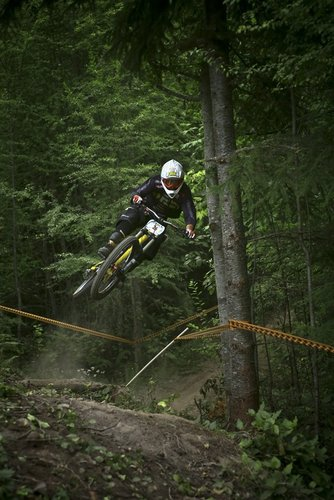 Project 529's Eric Loney styles out a huge one over this hip jump