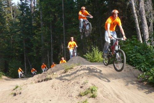 At the dirt jumps