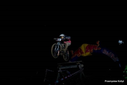 Night jump.  Photo by Przemysław Kołtyś