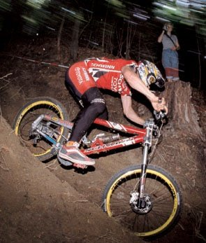 Dave Cullinan on Schwinn's Straight Eight in 1999.