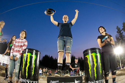 Action from the Pumptrack Challenge at Crankworx.