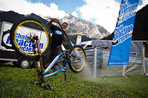 Team CRC Nukeproof at World Champs in Champery