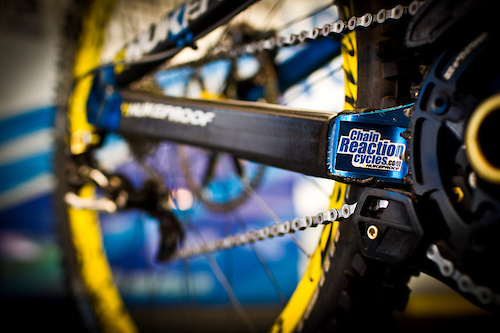 Team Chain Reaction Nukeproof at the 2011 World Champs