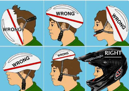 Mr Troy Lee in his quest for the perfect helmet!!!