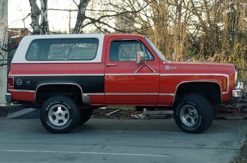 New Truck- K5 Blazer. 5.7L V8, bitches. Fuel economy like it's 1979!