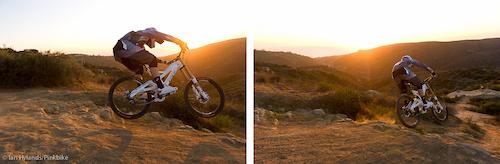 Gee Atherton rides his new GT Fury near Laguna Beach, California