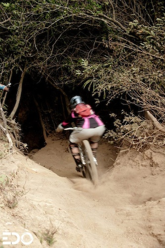 Currently the only female to run the Costarican downhill cup