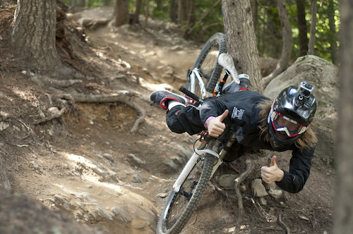 Camp of Champions Head Coach Justin Wyper crashing with style. Picture by Stewart Medford