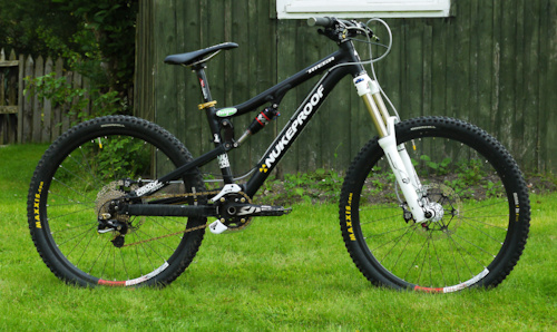 The Nukeproof Mega with new brakes and the air shock is back