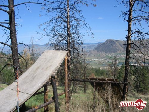 Massive jump on trail on rose hill