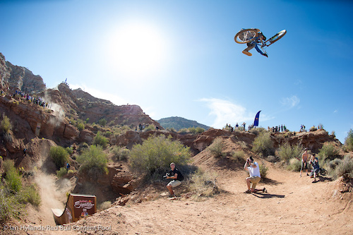 Thomas Genon won Joyride this year, and he threw down some beautiful airs here in Utah. Unfortunately it wasn't enough.