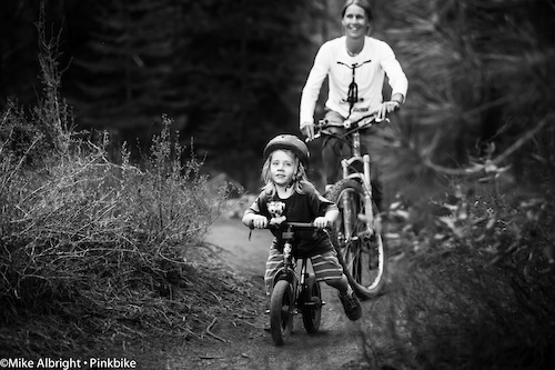 """All ages enjoy """"Happy Hour"""" at the Lower Whoops trail near Bend, Oregon."""