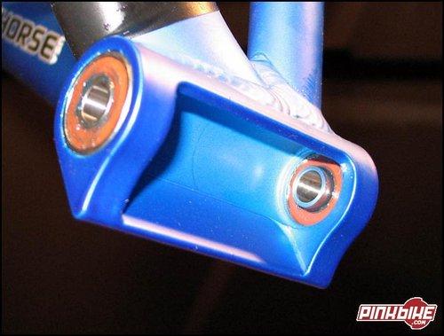 <center>Lower bearings with custom extended inner race</center>