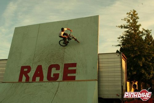 Aaron Nachtrab hitting up the RAGE wall ride