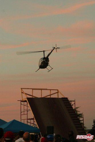 Helicopter over roll in- Rage films brought out a heli to shoot some vid