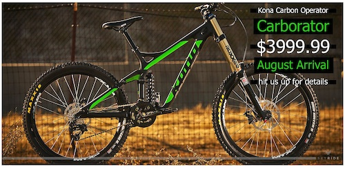 The new CARBORATOR Kona Carbon Operator
