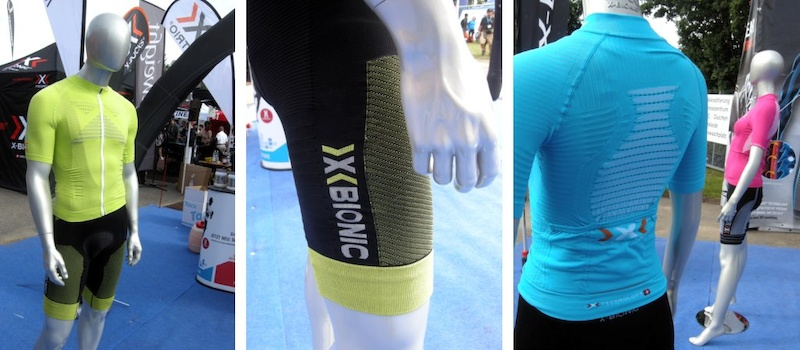 You know you are in Europe when you. see how hard clothing makers try to bring spandex into the mainstream. Xbionic clothing is designed to make riders sweat early and thus keep cooler. Yeah right.