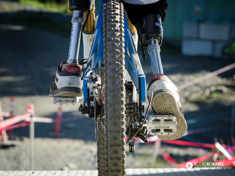 My favourite photo from all of Crankworx. This was in the start house for the Garbanzo DH. Rider is Adolfo Almarza of Chile.