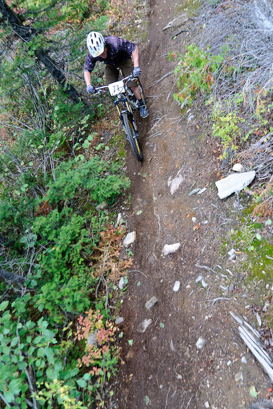 First of two timed descents in the Dreadhead Enduro DH. Event goes Sept. 7. Photo by Vince Boothe.