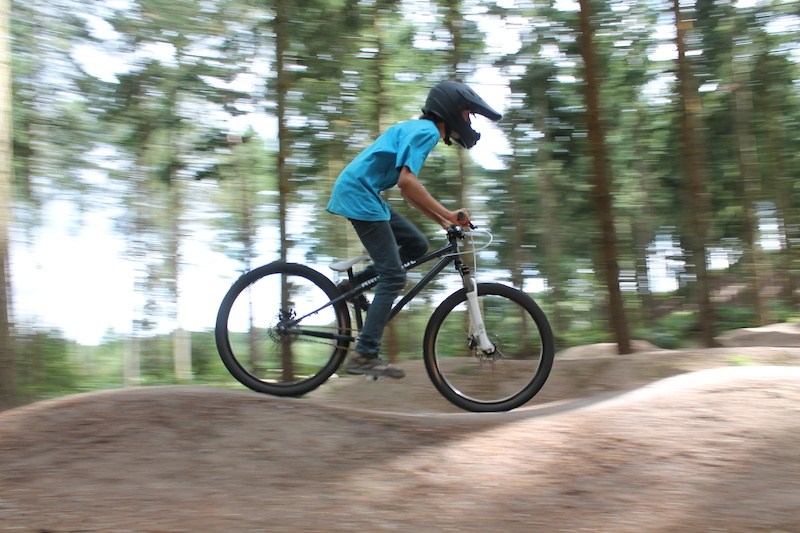 Riding the pumptrack
