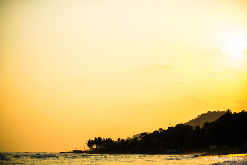 Sunset in El Tunco