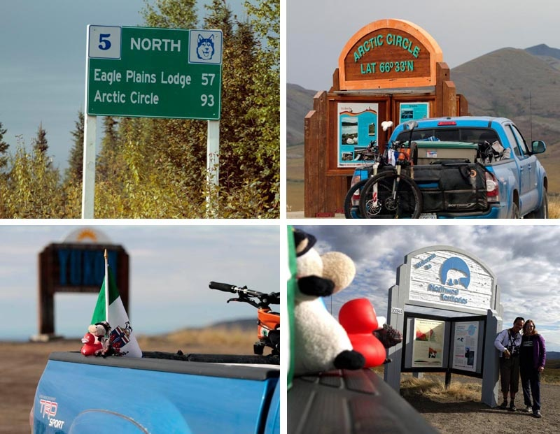 Taken on days 3 and 4 of our trip as we used gas power to drive from Engineer Creek about a third up the Dempster Highway to Rock Cree about two thirds up the highway and then to the Continental Divide where the Yukon North West Territories border is located