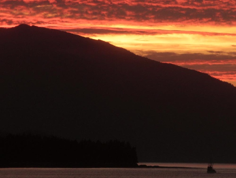 We started our 9000km road trip all the way from Vancouver to the Northern Yukon and back to Vancouver by taking the Inside Passage ferry from Northern Vancouver Island Port Hardy to Prince Rupert. We got lucky with some fantastic weather and light shows at sunset - this is at Grenville Channel on the last third of the ferry ride