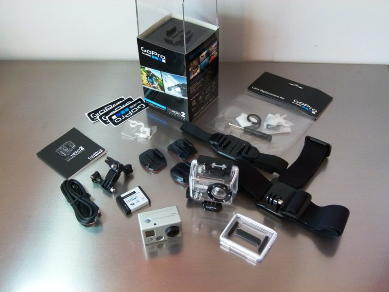 GoPro HD HERO2 Outdoor Edition complete with accessories - 180EUR + P&P