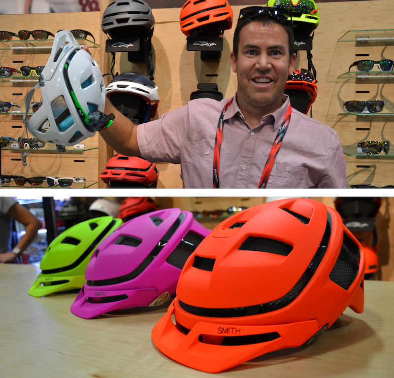 47354e10bfb Ok we know you ve seen these helmets - but just look at the colours! Ian  took a moment out of his booth boy duties to demonstrate a handy feature of  the ...