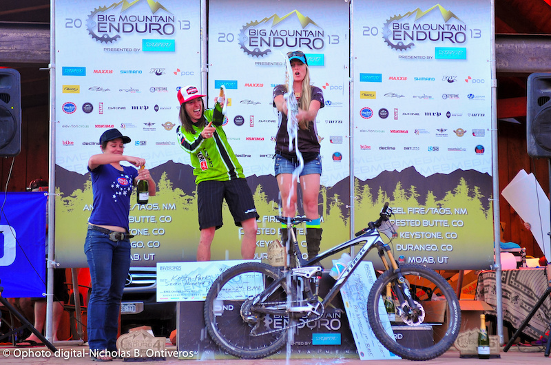 Champagne time for BME Overall Pro Women podium.