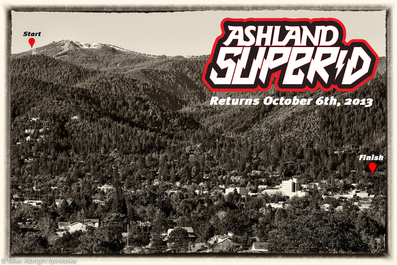 Amazing trails await the Ashland Super D participants. The downtown area at the lower left sits 12 miles below Mt Ashland just miles from the Oregon California border.