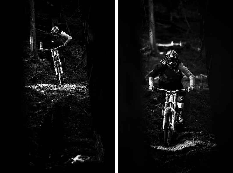 Tough lighting conditions with harsh light in a dark forest but we all made the best of it.