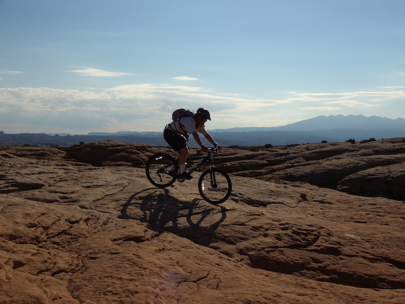 Riding on the Rockin A Trail.