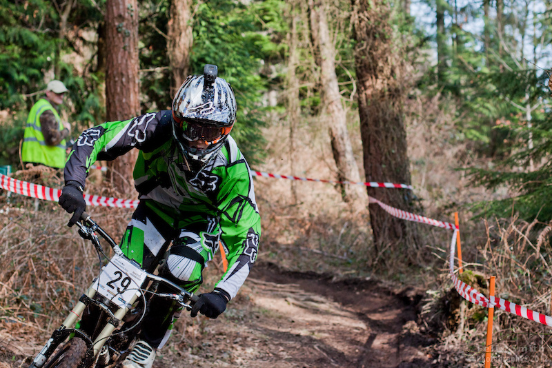Jay Williamson on the way to victory at the Woodland Riders Winter Series 2012-13