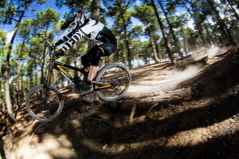 Training in Spain.