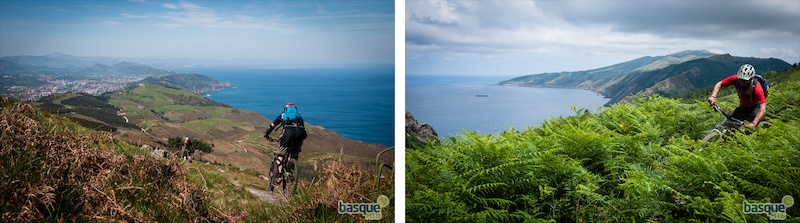 Riding on the Basque coast greener than the Pyrenees but still long long singletrack descents.