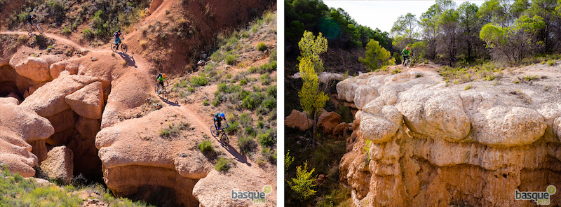 Riding the fun but exposed singletrack in Spanish Utah.