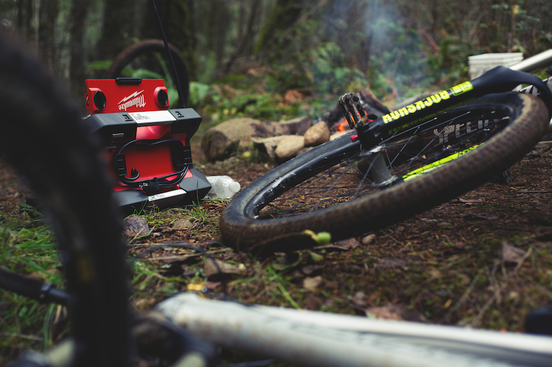 Everything you need for a good winter Bikes warm fire and tunes