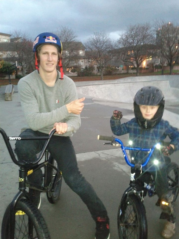 Good inspiration for a 5 yr old that loves biking.Brandon is a cool guy.