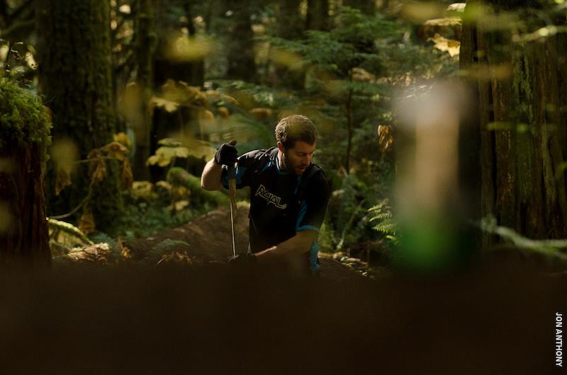 Pat polishing the terrain