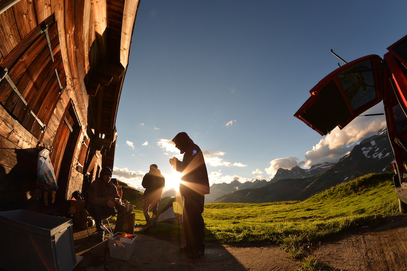Filming Ride the Alps