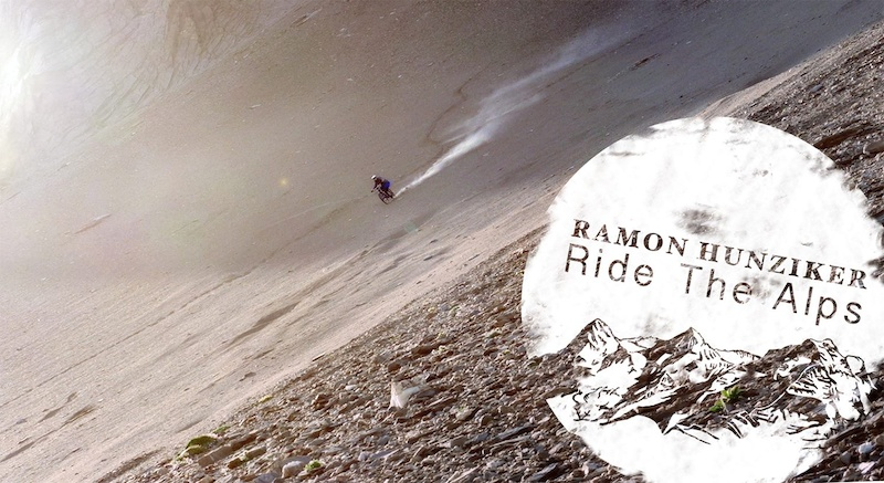 Ramon Hunziker shredding down one of his favourite spots which he found during filming Ride the Alps