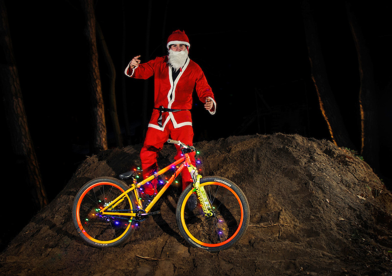 He knows when you re sleeping. He knows when you re awake... Our local Santa aka Kraja got his Miami Viced reindeer - Cody and shared some love with fellow elves. Enjoy your Christmas mates Santa also mentioned that all the bad diggers will get shovels instead of bike parts this year Photo credit Badphoto
